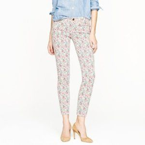 J.Crew Toothpick Floral Jeans. Pink&White. 30#01